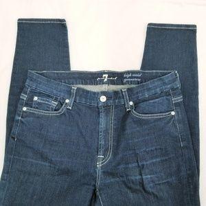 7 FAM High waist Gwenevere Skinny Dark wash jeans